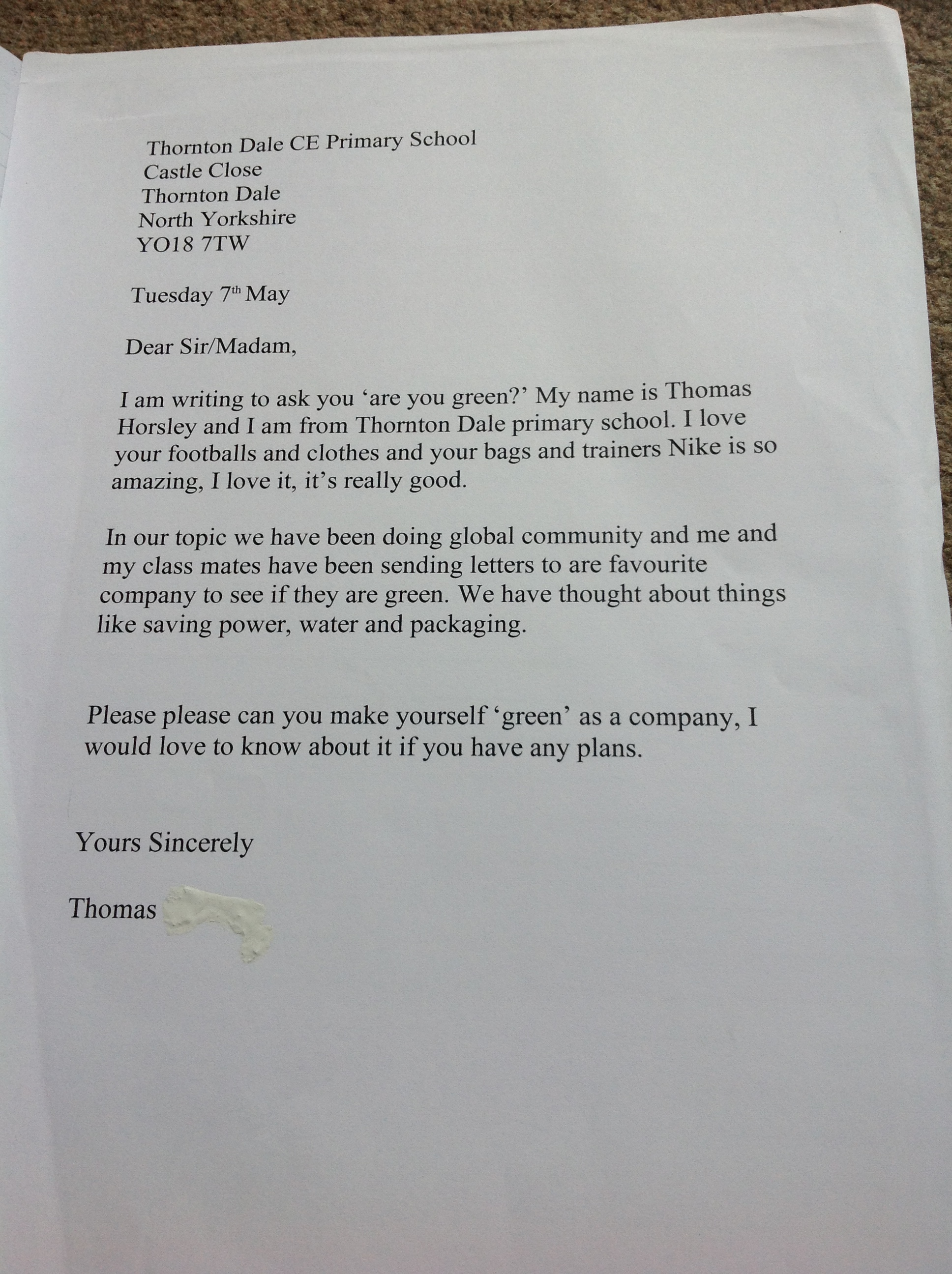 Persuasive writing thornton dale school blog thomass persuasive letter expocarfo